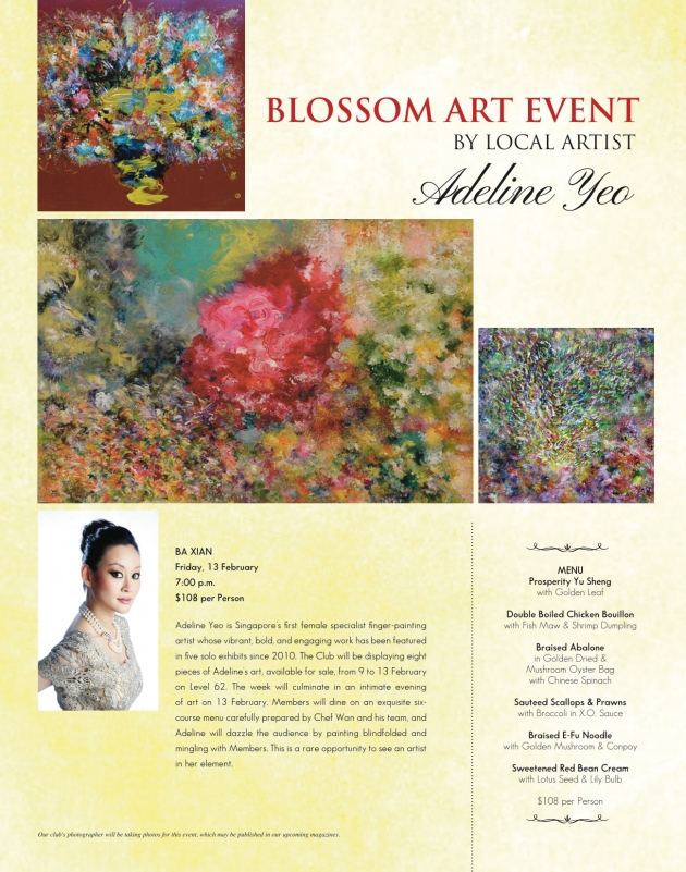 'BLOSSOMS' Art Dinner @ Tower Club Singapore