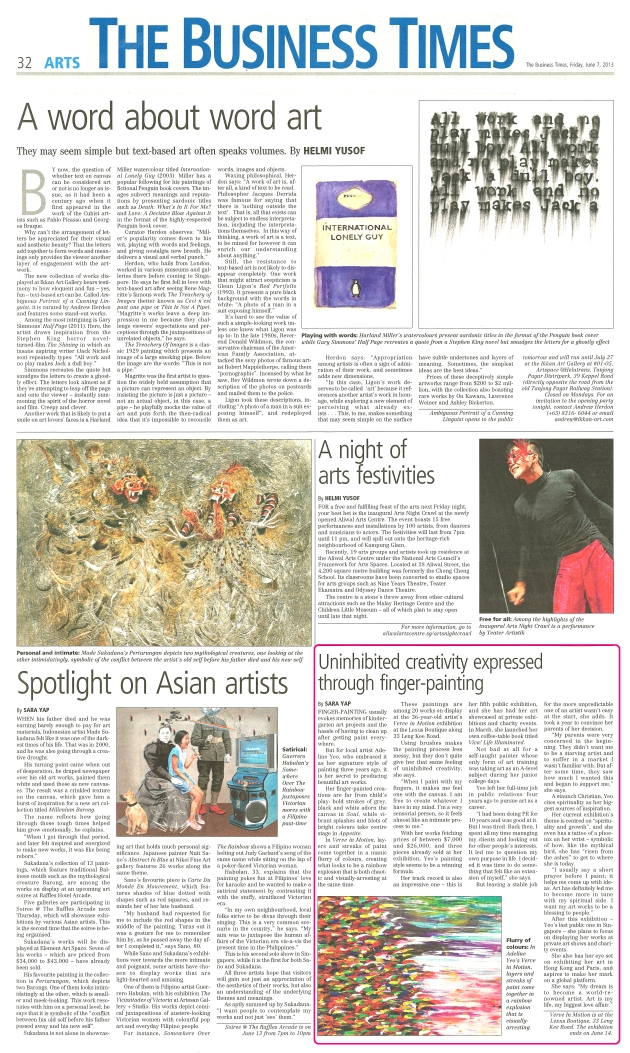 The Business Times - Arts