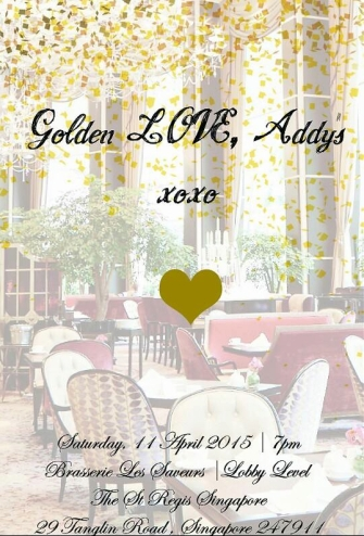 Golden LOVE, Addy's _ 11 April 2015
